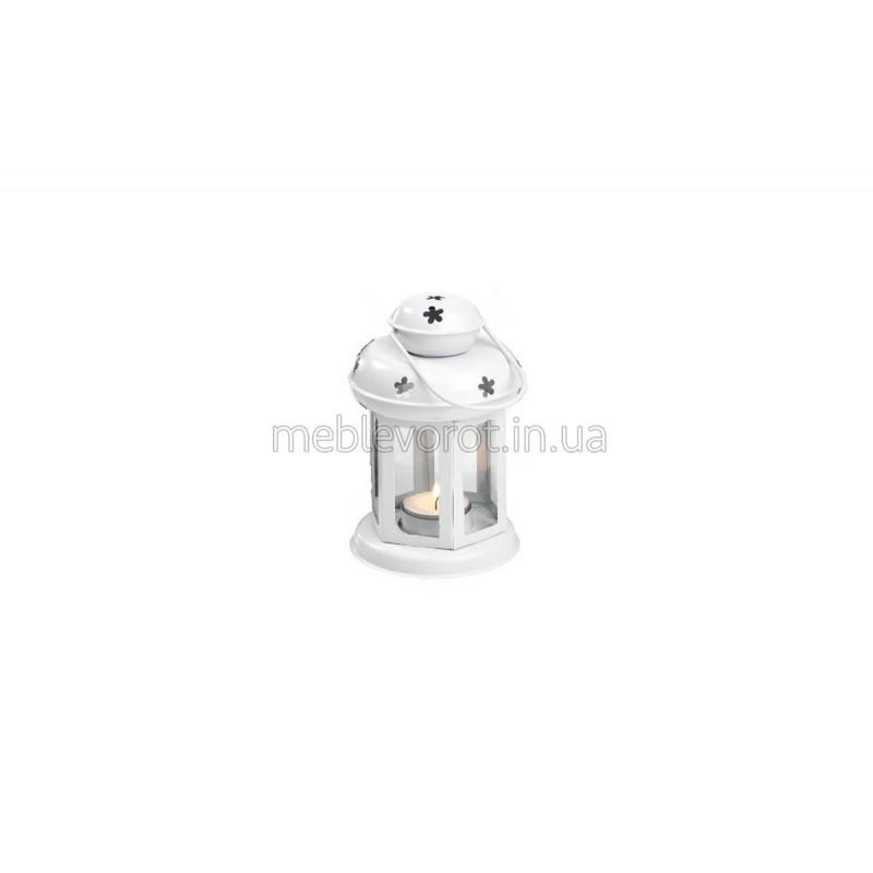 Декоративний ліхтарь зі свічкою білий (Оренда)