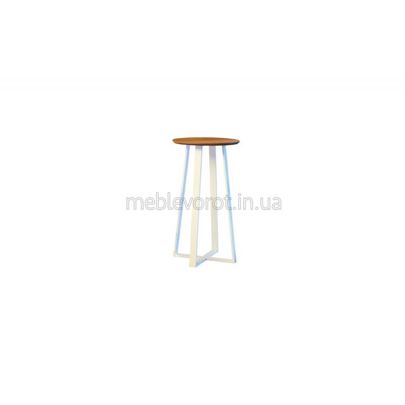 "Лофт барный стол ""Круг"" белый (Аренда)"